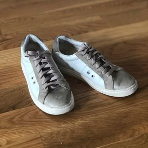 Zara faux leather and faux suede sneakers